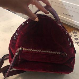 SAM EDELMAN Ruby Red Velvet Backpack